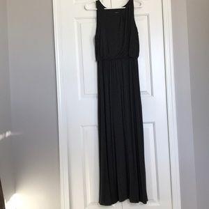 LOFT gray maxi dress